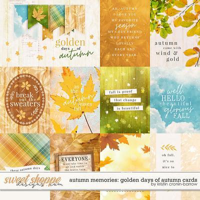 Autumn Memories: Golden Days of Autumn Cards by Kristin Cronin-Barrow
