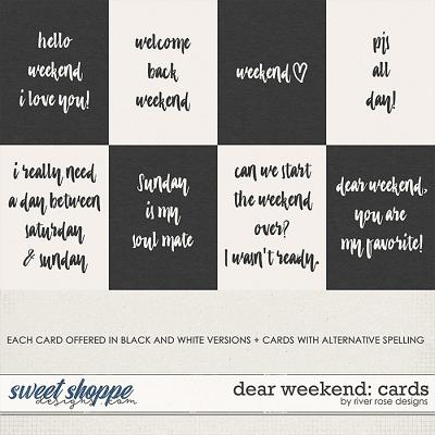 Dear Weekend: Cards by River Rose Designs