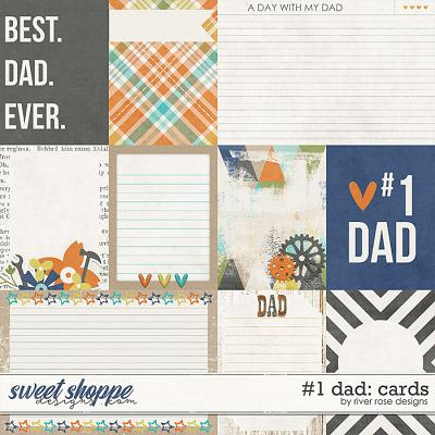 #1 Dad: Cards by River Rose Designs
