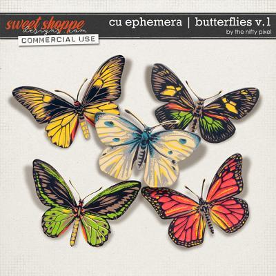 CU EPHEMERA | BUTTERFLIES V.1 by The Nifty Pixel