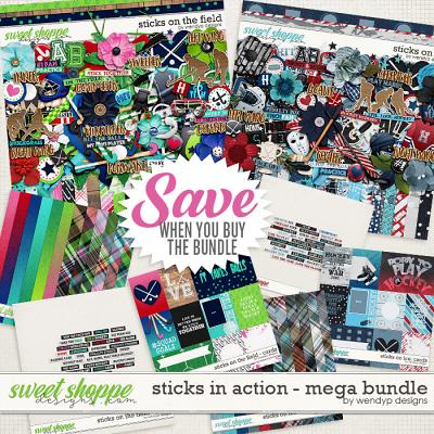 Sticks in action - Mega bundle by WendyP Designs