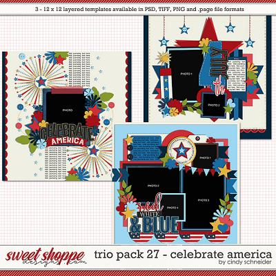 Cindy's Layered Templates - Trio Pack 27: Celebrate America by Cindy Schneider