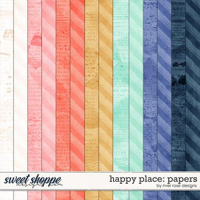 Happy Place: Papers by River Rose Designs