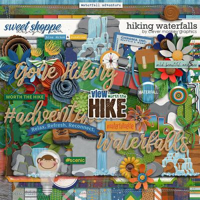 Hiking Waterfalls by Clever Monkey Graphics