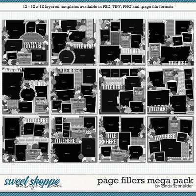 Cindy's Layered Templates - Page Fillers MEGA Pack by Cindy Schneider