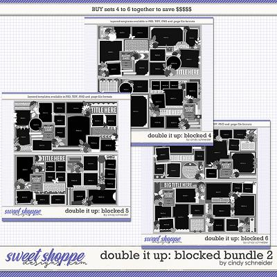 Cindy's Layered Templates - Double It Up: Blocked Bundle 2 by Cindy Schneider