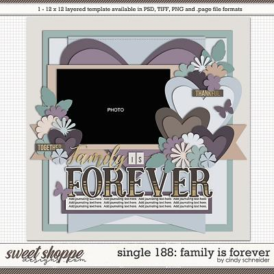 Cindy's Layered Templates - Single 188: Family is Forever by Cindy Schneider