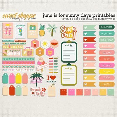 June Is For Sunny Days Printables by Studio Basic