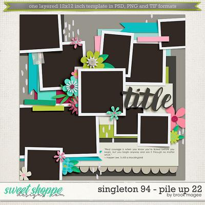 Brook's Templates - Singleton 94 - Pile Up 22 by Brook Magee