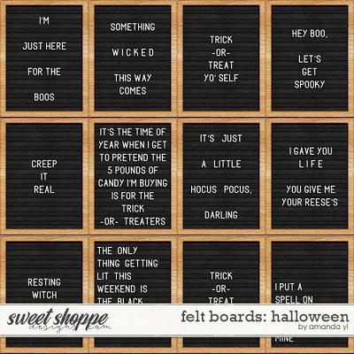 Felt Boards: Halloween by Amanda Yi
