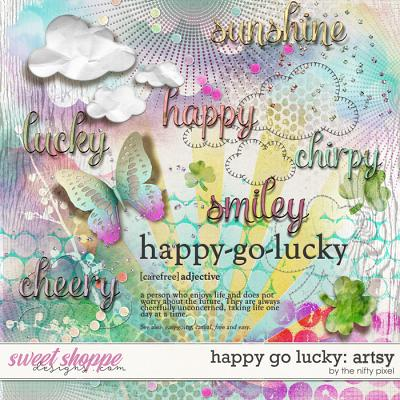 HAPPY GO LUCKY | ARTSY by The Nifty Pixel