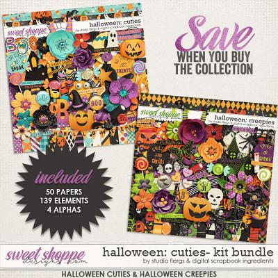 Halloween Creepies & Cuties Kit Bundle by Studio Flergs & Digital Scrapbook Ingredients