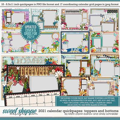 2021 Quickpage Calendars (Updated) by Cindy Schneider and Kristin Cronin-Barrow