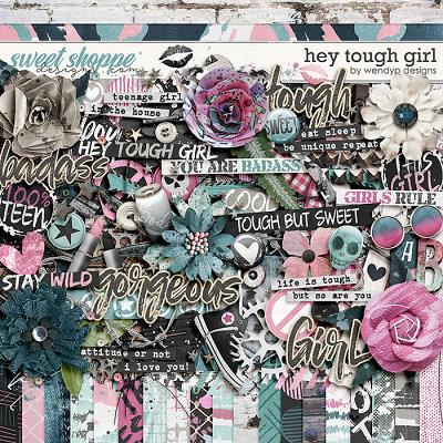 Hey tough girl by WendyP Designs