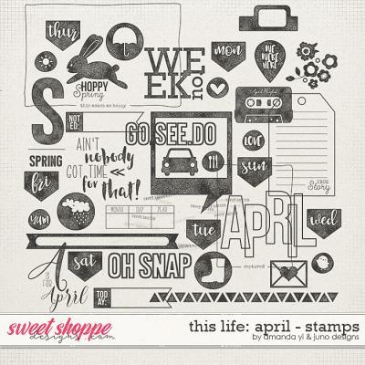 This Life: April - Stamps by Amanda Yi & Juno Designs