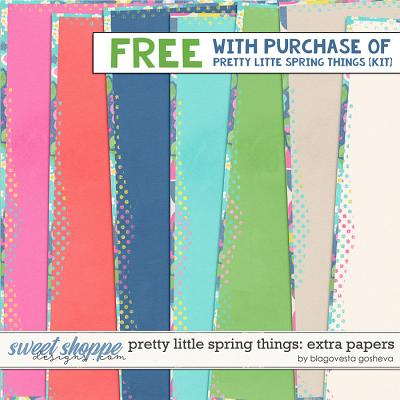 Pretty Little Spring Things {Extra papers} by Blagovesta Gosheva