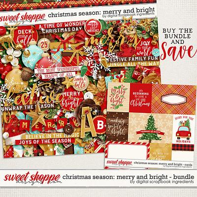 Christmas Season: Merry and Bright bundle by Digital Scrapbook Ingredients