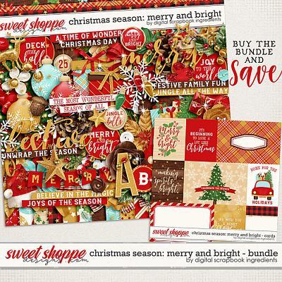 Christmas Season: Merry and Bright bundle by Digital Scrapbook Ingredients