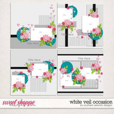 White Veil Occassion Layered Templates by Southern Serenity Designs