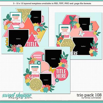 Cindy's Layered Templates - Trio Pack 108 by Cindy Schneider