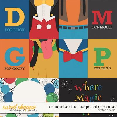 Remember the Magic: FAB 4- CARDS by Studio Flergs
