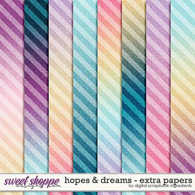 Hopes & Dreams | Extra Papers by Digital Scrapbook Ingredients