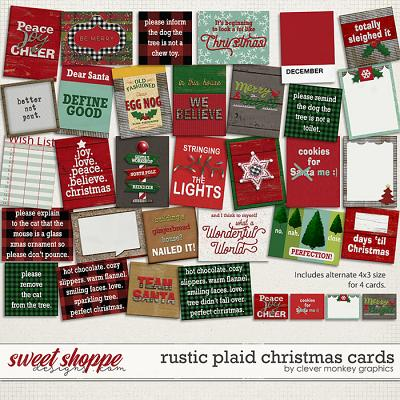 Rustic Plaid Christmas Cards By Clever Monkey Graphics