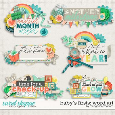 Baby's Firsts Word Art by Meagan's Creations