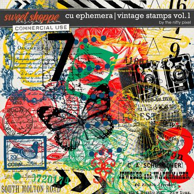 CU EPHEMERA | VINTAGE STAMPS V.1 by The Nifty Pixel