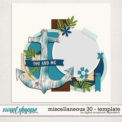 Miscellaneous 30 Template by Digital Scrapbook Ingredients