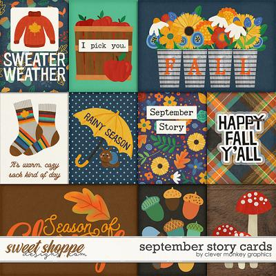 September Story Cards by Clever Monkey Graphics