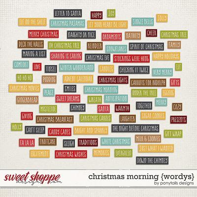 Christmas Morning Wordys by Ponytails