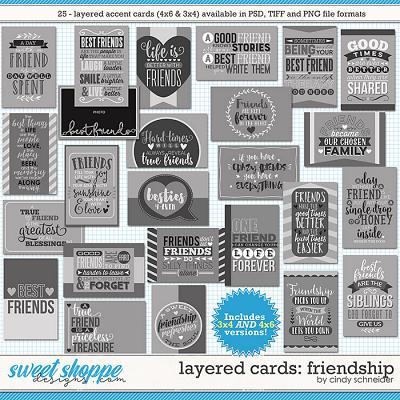 Cindy's Layered Cards - Friendship by Cindy Schneider