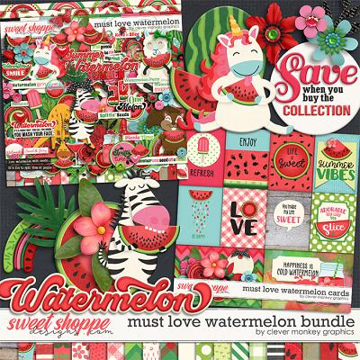 Must Love Watermelon Bundle by Clever Monkey Graphics