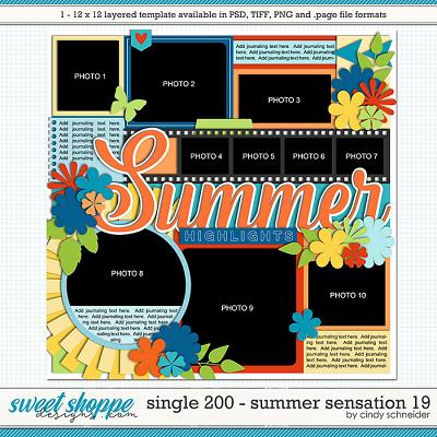 Cindy's Layered Templates - Single 200: Summer Sensation 19 by Cindy Schneider