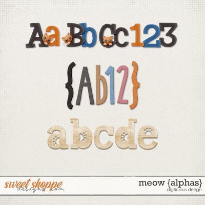Meow {Alphas} by Digilicious Design