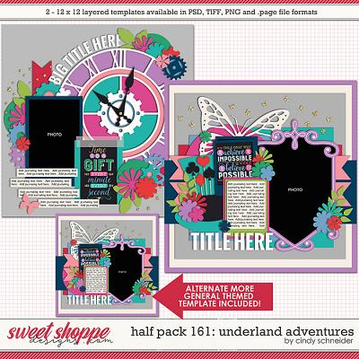 Cindy's Layered Templates - Half Pack 161: Underland Adventures by Cindy Schneider