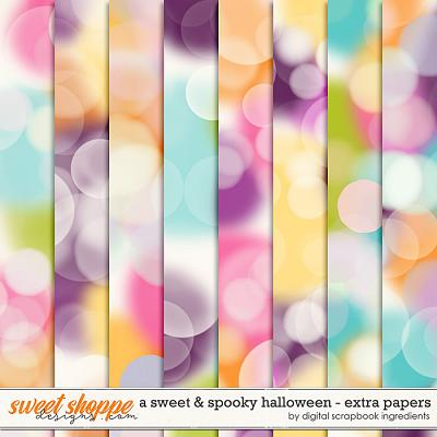 A Sweet and Spooky Halloween | Extra Papers by Digital Scrapbook Ingredients
