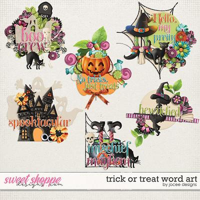 Trick or Treat Word Art by JoCee Designs
