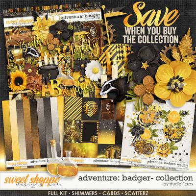 Adventure: Badger- COLLECTION & *FWP* by Studio Flergs