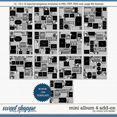 Cindy's Layered Templates - Mini Album 4 Add-on by Cindy Schneider