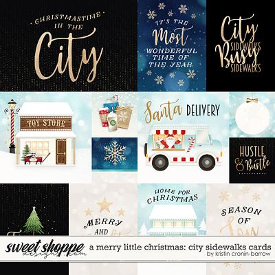 A Merry Little Christmas: City Sidewalks Cards by Kristin Cronin-Barrow