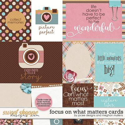 Focus On What Matters-Card Pack by JoCee Designs & Meghan Mullens