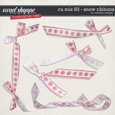 CU Mix 83 - Snow Ribbons by WendyP Designs
