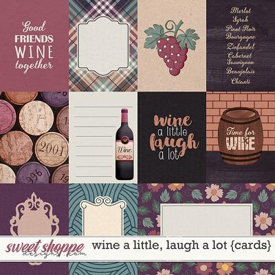 Wine a little, laugh a lot by Blagovesta Gosheva {cards}