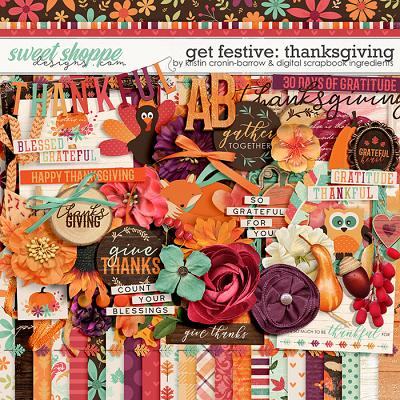 Get Festive: Thanksgiving by Kristin Cronin-Barrow & Digital Scrapbook Ingredients
