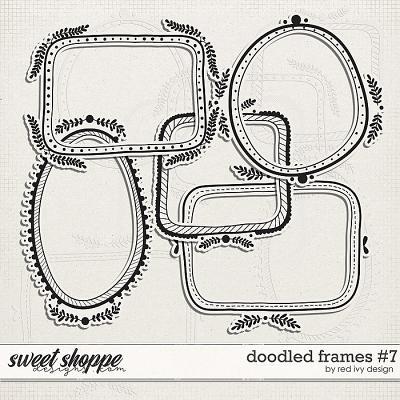 Doodled Frames #7 by Red Ivy Design