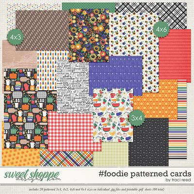 #foodie Patterned Cards by Traci Reed