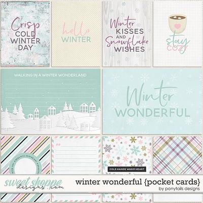 Winter Wonderful Pocket Cards by Ponytails