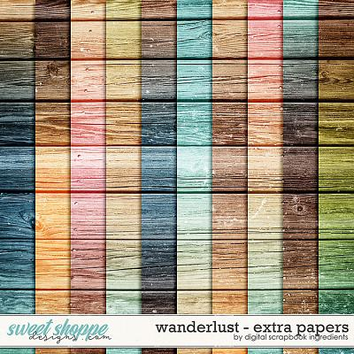 Wanderlust | Extra Papers by Digital Scrapbook Ingredients